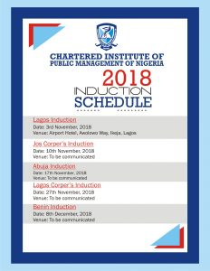 Induction TimeTable. 2018